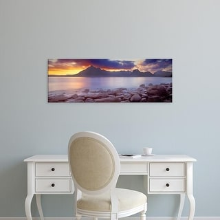 Easy Art Prints Panoramic Images's 'Rocks on the coast, Elgol, Loch Scavaig, Isle of Skye, Scotland' Canvas Art