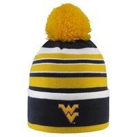 West Virginia University Bradshaw Striped Pom Beanie