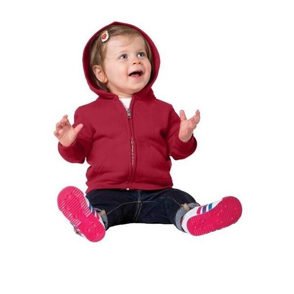 CAR78IZH Infant Full Zip Hooded Sweatshirt, Red - 18 Month