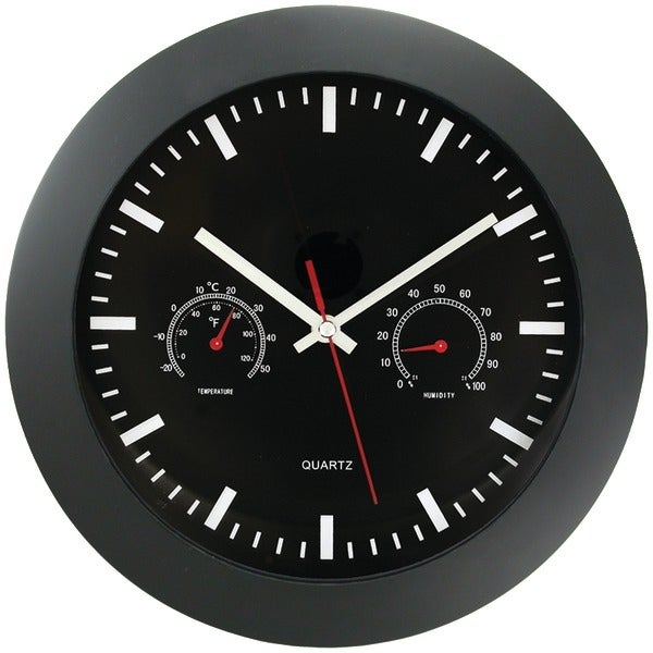 "Timekeeper 6990 12"" Temperature & Humidity Wall Clock"