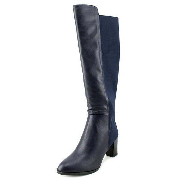 Ann Marino by Bettye Muller Must Be Hot Women Canvas Blue Knee High Boot