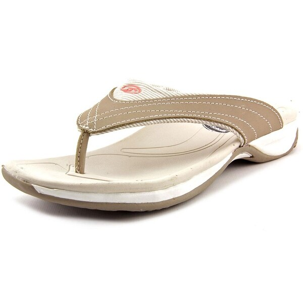 bdb845b8fcd Shop Dr. Scholl s Parcel Women Open Toe Leather Tan Flip Flop Sandal ...