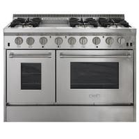 AGA APRO48AG Professional Series 48 Inch Wide 6.7 Cu. Ft. Slide In Gas Range wit - Stainless Steel - N/A