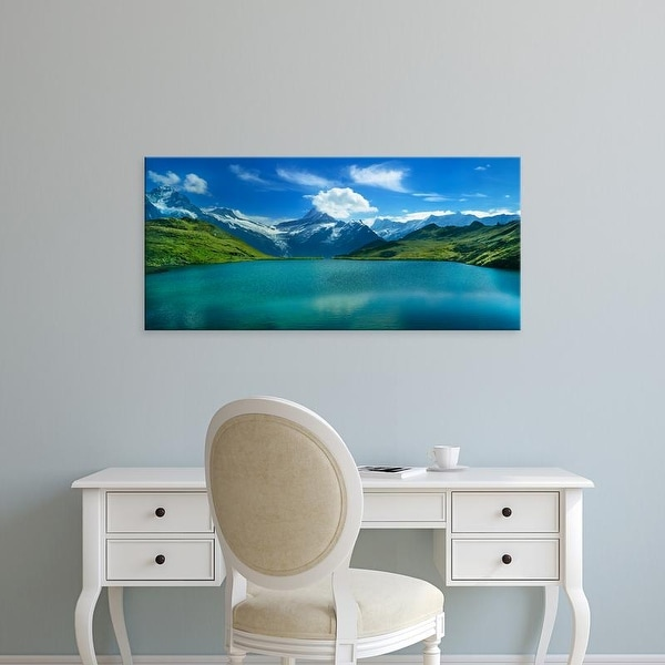 Easy Art Prints Panoramic Image 'Clouds, Bachalpsee, Grindelwald, Bernese Oberland, Switzerland' Canvas Art