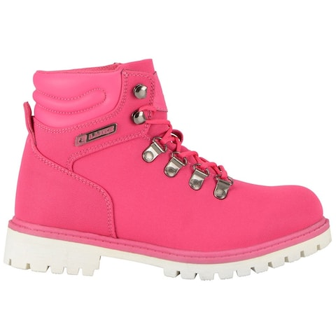 """Lugz Grotto Ii Womens Boots Ankle Low Heel 1-2"""" - Pink"""