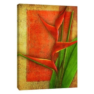 "PTM Images 9-108635  PTM Canvas Collection 10"" x 8"" - ""Heliconia"" Giclee Flowers Art Print on Canvas"