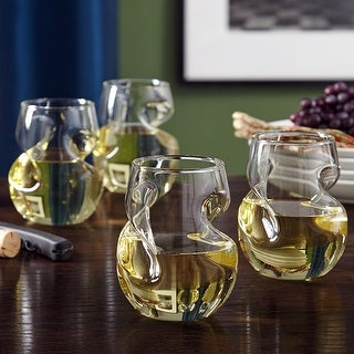 Link to Modena Sculpted Wine Glasses, Set of 4 Similar Items in Glasses & Barware