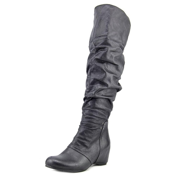 Baretraps Valry Wide Calf Round Toe Synthetic Knee High Boot
