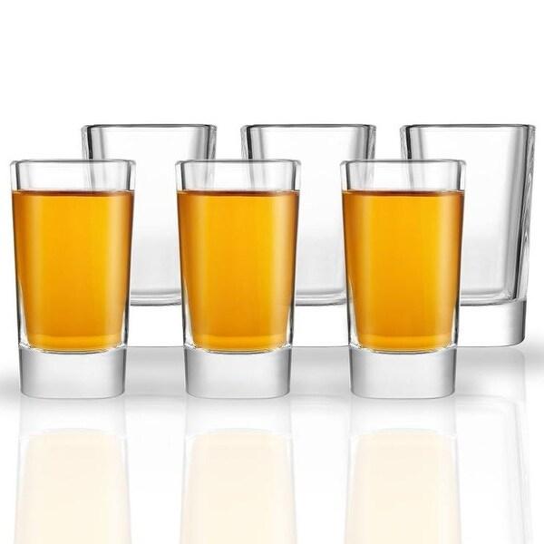 JoyJolt Villa Heavy Base Square Shot Glasses, Set of 6 - 1.7 oz Shot Glasses. Opens flyout.