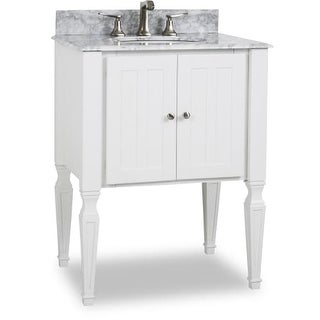 "Elements VAN059-T Jensen 28"" Vanity Set with Wood Cabinet, Marble Top and One Undermount Sink"