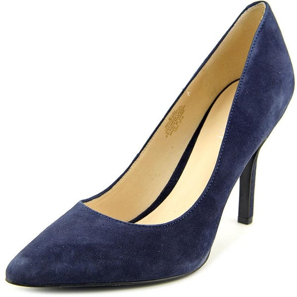 Nine West Shimmer Women Pointed Toe Suede Blue Heels