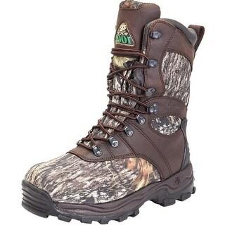 Rocky Outdoor Boots Mens Sport Utility Waterproof Mossy Oak