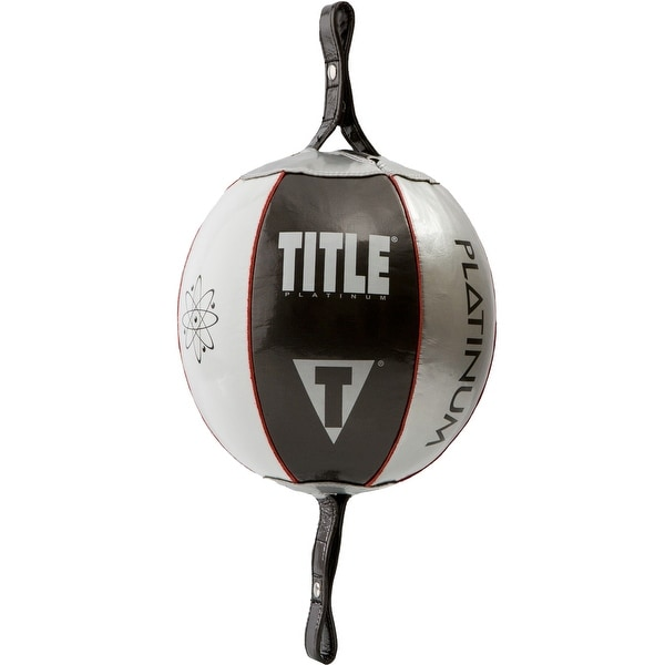 "Title Boxing Platinum Atomic Double End Bag - 8"" - Black/Silver (BAG ONLY)"