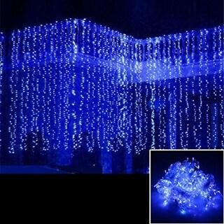 AGPtek 15Mx3M Linkable Fairy Curtain Lights Strings Connectable Lights 8 Lighting Modes