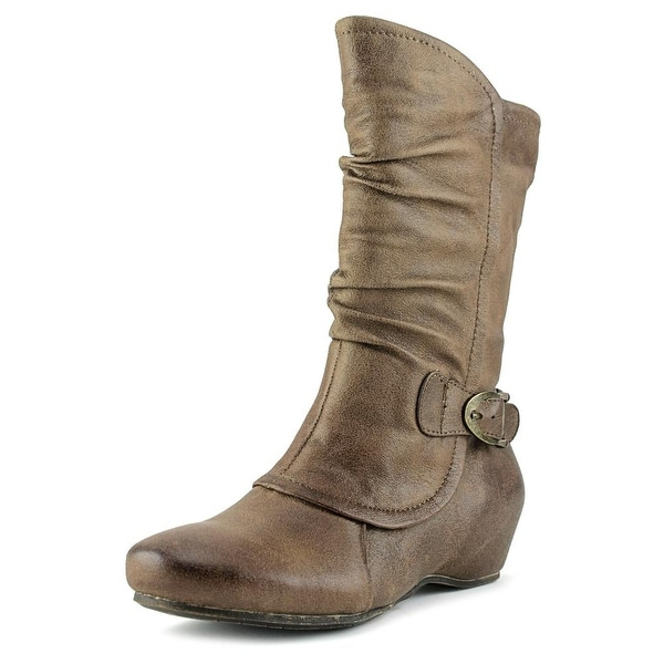Baretraps Shelby Women Round Toe Synthetic Brown Mid Calf Boot
