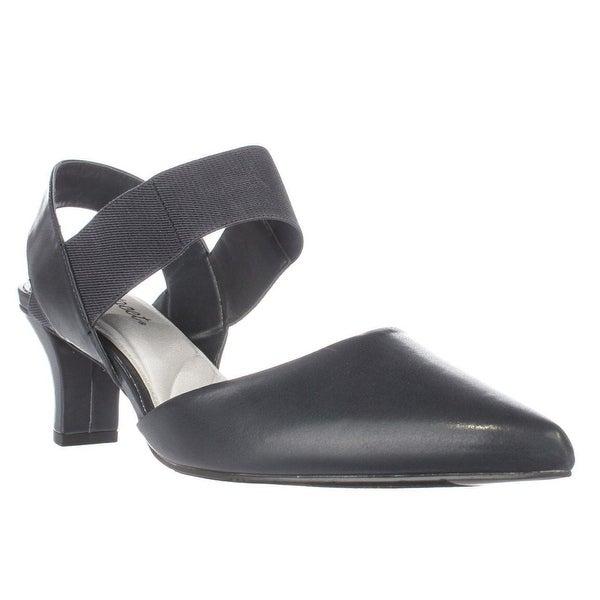 Easy Street Vibrant Slingback Heels, Navy