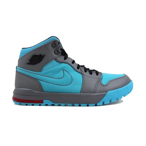 8d5643e3e0d6 Shop Nike Men s Air Jordan 1 Trek Cool Grey Black-Gamma Blue-Gym ...
