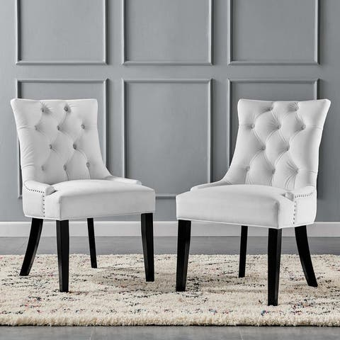 Silver Orchid Kornman Velvet Dining Side Chairs (Set of 2)