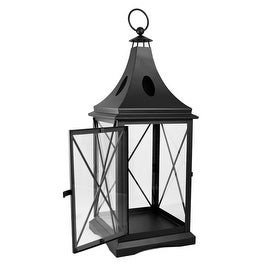 Mission Gallery Black Metal Square Lantern