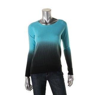 Aqua Womens Knit Dip-Dye Sweater