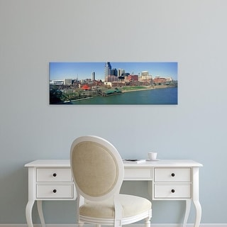 Easy Art Prints Panoramic Images's 'Panoramic morning view of Cumberland River and Nashville, TN' Premium Canvas Art