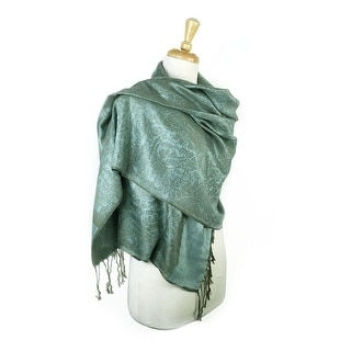 """Link to Paisley Jacquard Pashmina Shawl Wrap Scarf Stole - 28"""" width x 78"""" length with Fringes Similar Items in Scarves & Wraps"""