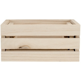 Wood Craft Crate Caddy Set 3/Pkg-