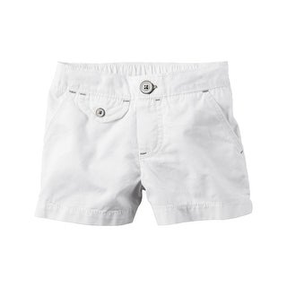 Carter's Little Girls' Flap-Pocket Twill Shorts, 4 Kids