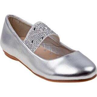 Kensie Girl Girls' KG24500M Studded Mary Jane Silver Metal