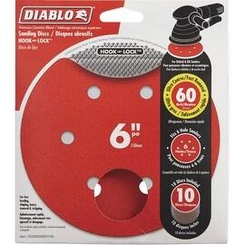 "Diablo 10Pk 6"" 60G Sanding Disc"