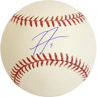 Freddie Freeman signed Rawlings Official Major League Baseball #5 (Atlanta Braves)