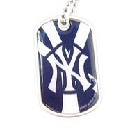 New York Yankees Dynamic Dog Tag Necklace Charm Chain MLB