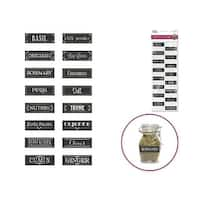 Multicraft Sticker Chalkboard Lbls Herbs & Spices