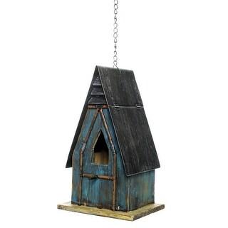 "Alpine YEN152HH-TUR Wood Bird House, 12"""
