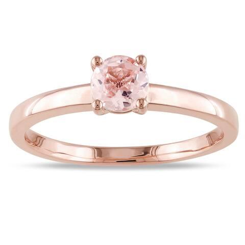 Miadora 10k Rose Gold Morganite Solitaire Ring