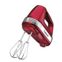 Cuisinart HM-70MR Power Advantage 7-Speed Hand Mixer, Metallic Red