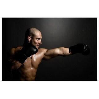 """Boxer throwing punch"" Poster Print"