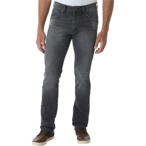 Wrangler Mens Retro Slim Fit Jeans, grey, 33W x 30L