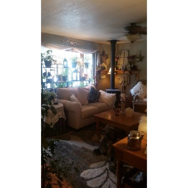 ea5ff34cb1c Shop Safavieh Florida Shag Smoke  Beige Floral Area Rug - 8 6