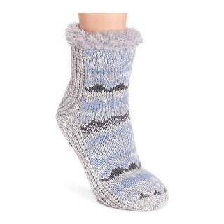 MUK LUKS Women's 1-Pair Pieced Cabin Sock Alice Blue