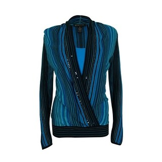 INC International Concepts Women's Layered Look Sequined Top