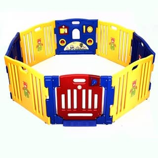 Costway Baby Playpen Kids 8 Panel Safety Play Center Yard Home Indoor Outdoor Pen|https://ak1.ostkcdn.com/images/products/is/images/direct/8f40cb82d7c73cf34cc93a175371b005bf6fd08b/Costway-Baby-Playpen-Kids-8-Panel-Safety-Play-Center-Yard-Home-Indoor-Outdoor-Pen.jpg?impolicy=medium