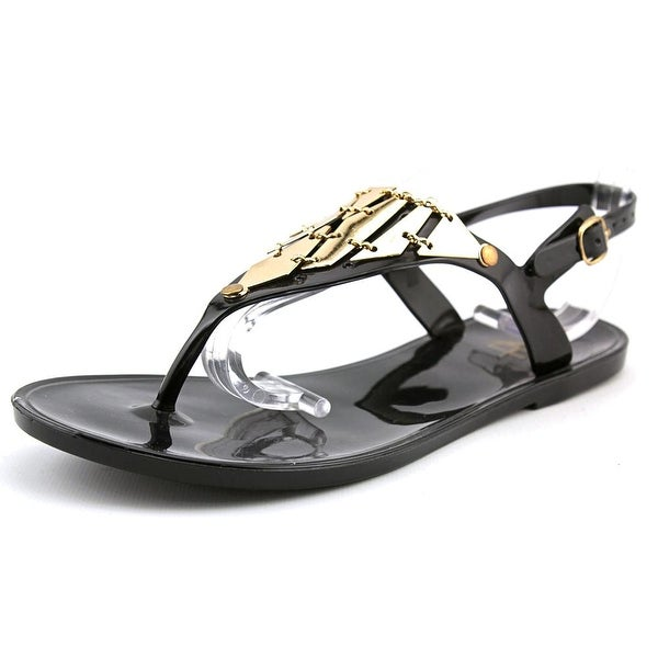Fahrenheit Kay-04 Women Open Toe Synthetic Black Flip Flop Sandal