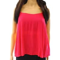 Elodie NEW Pink Women's Size Large L Ruffle Trim Crinkle Tank Cami Top