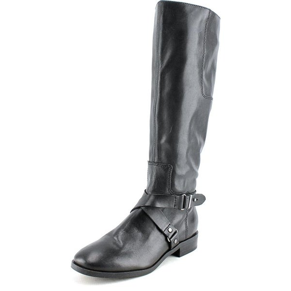 Nine West Blogger Round Toe Leather Knee High Boot