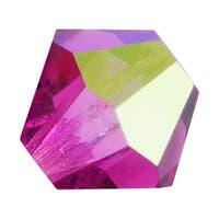 Preciosa Czech Crystal 4mm Bicone Beads 'Fuchsia AB' (50)