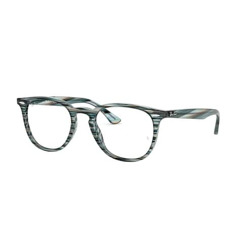 Ray Ban RX7159 5750 52 Blue Grey Stripped Unisex Phantos Eyeglasses