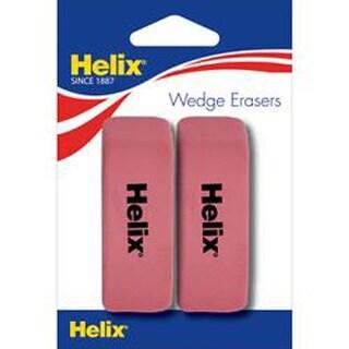 2/Pkg - Pink Wedge Eraser