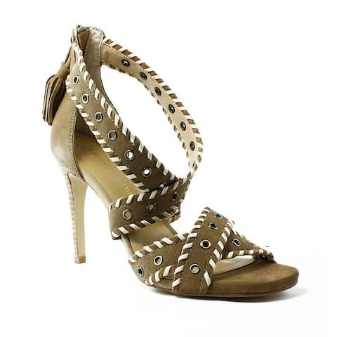 263db97e799 Chinese Laundry Womens Southwestsplit-227 DarkCamelSplit Peep Toe Heels Size