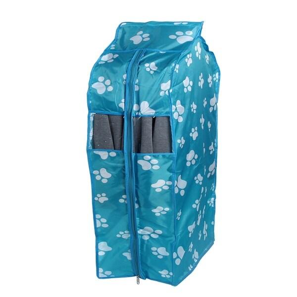 Oxford Cloth Dust Resistant Clothing Cover Bag Blue Footprint 50 x 30 x 80cm
